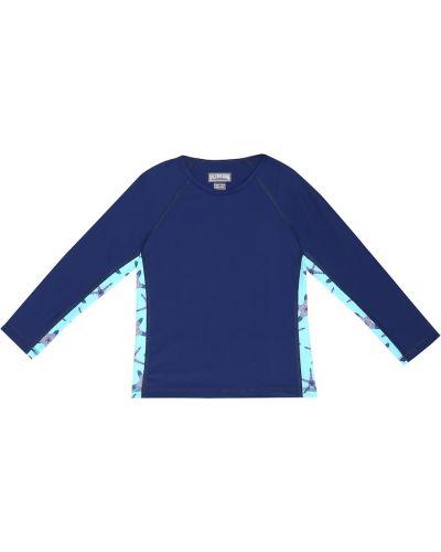 Текстильный синий рашгард стрейч Vilebrequin Kids