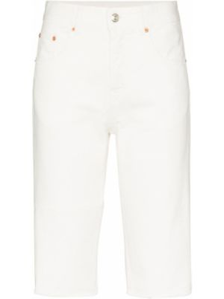 Джинсовые шорты с бахромой с карманами Mm6 Maison Margiela