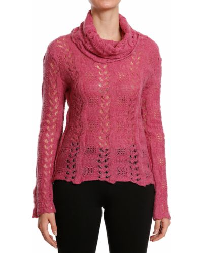Розовый свитер из мохера John Galliano