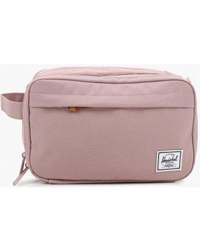 Текстильная розовая косметичка Herschel Supply Co