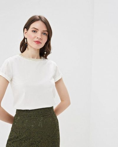 Блузка с коротким рукавом белая Lusio