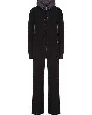 Черный спортивный костюм свободного кроя с поясом Capobianco