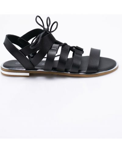 Черные сандалии на шнуровке Answear
