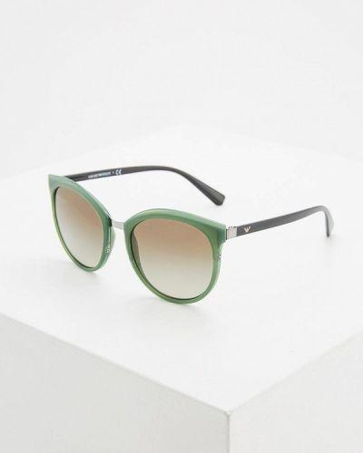 Зеленые солнцезащитные очки Emporio Armani