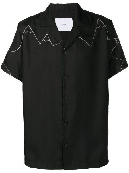 Czarna koszula krótki rękaw Goodfight