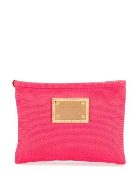 Золотистый кожаный клатч на молнии Louis Vuitton