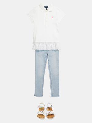 Biała koszula bawełniana elegancka Polo Ralph Lauren Kids
