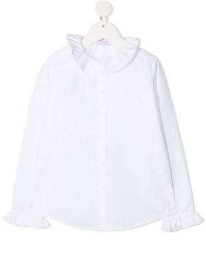 Хлопковая белая рубашка круглая Il Gufo