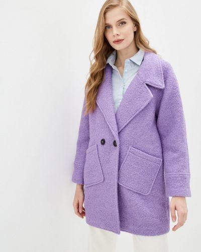 Фиолетовое пальто двубортное On Parle De Vous