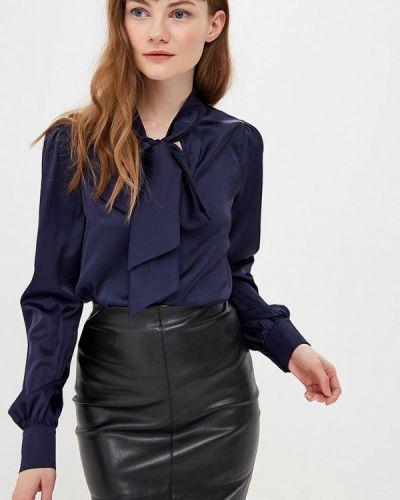 Блузка с бантом синяя Gepur