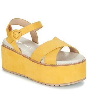 Żółte sandały Coolway