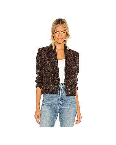 Акриловый коричневый пиджак с запахом Anine Bing