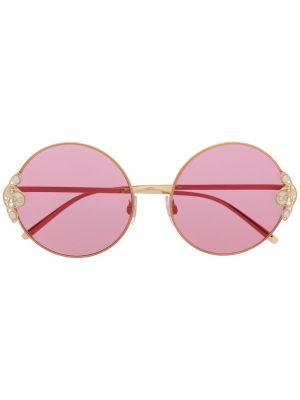 Złote różowe okulary perły Dolce & Gabbana Eyewear