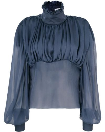 Блузка с длинным рукавом прозрачная с манжетами Palomo Spain