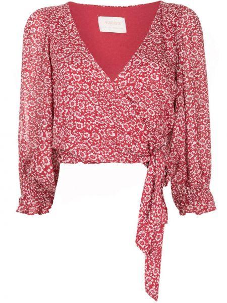 Блузка с принтом - красная Auguste