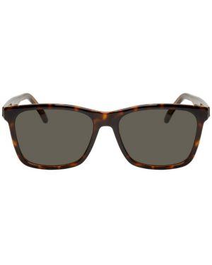 Okulary przeciwsłoneczne zielony srebro Saint Laurent
