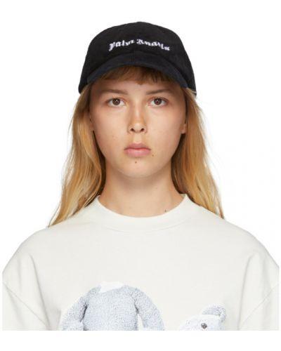 Хлопковая белая классическая кепка с вышивкой Palm Angels