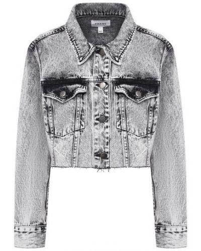 Хлопковая джинсовая куртка - серая Frame Denim