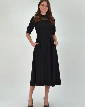 Платье с поясом на пуговицах сетчатое Viserdi