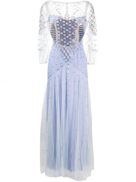 Платье с бисером с рукавами Temperley London