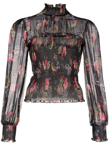 Шелковая блузка - черная Cinq À Sept
