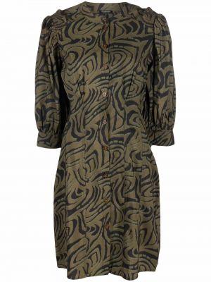 Платье с принтом - зеленое Scotch & Soda