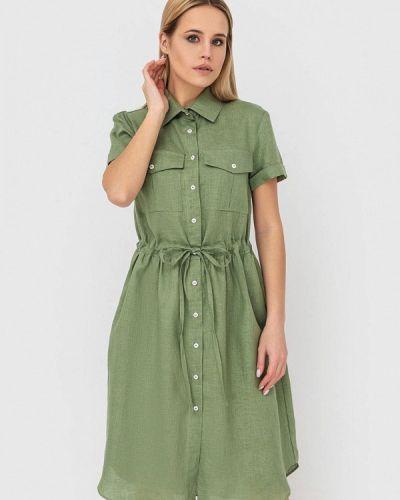Зеленое платье Morandi