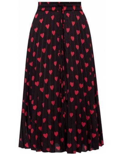 Czarna spódnica maxi z długimi rękawami Red Valentino