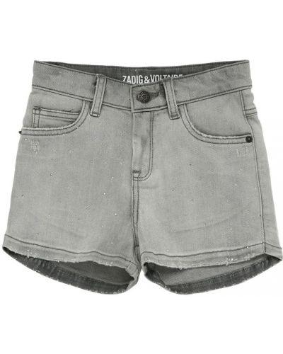 Синие хлопковые джинсовые шорты с карманами Zadig&voltaire