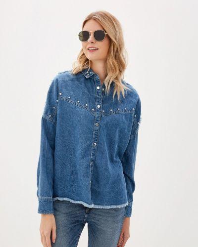 Джинсовая рубашка индийский синяя Guess Jeans
