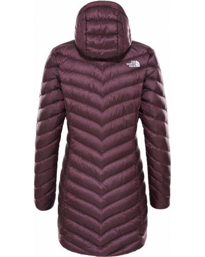 Пуховая теплая коричневая куртка The North Face
