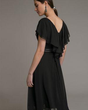Вечернее платье миди с V-образным вырезом Emka