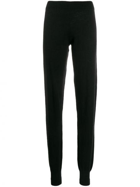 Черные спортивные брюки с поясом с манжетами узкого кроя Frenckenberger