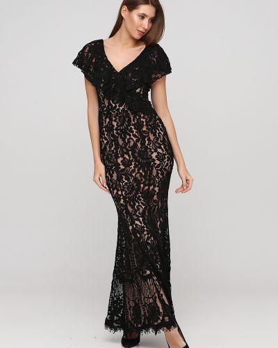 Свободное черное платье макси свободного кроя Goddiva