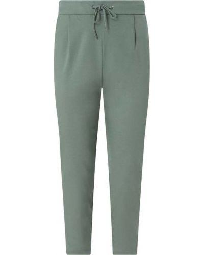 Zielone spodnie z wiskozy Vero Moda Curve