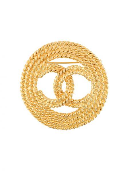 Broszka metal złoto Chanel Pre-owned