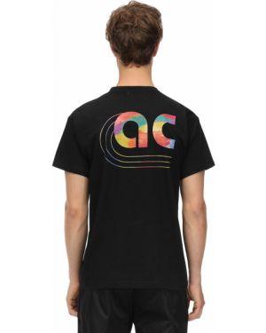 Czarny t-shirt bawełniany Applecore