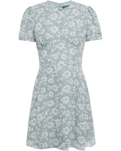 Niebieska sukienka zapinane na guziki Alexachung