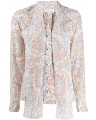 Блузка розовая с бантом See By Chloe