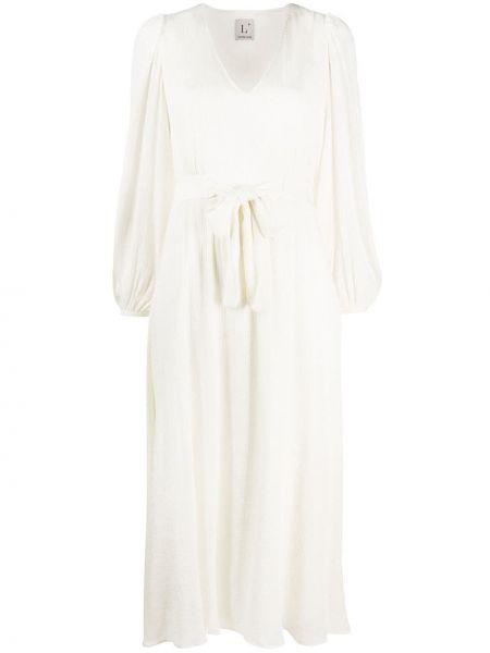 Платье с V-образным вырезом с рукавами Lautre Chose