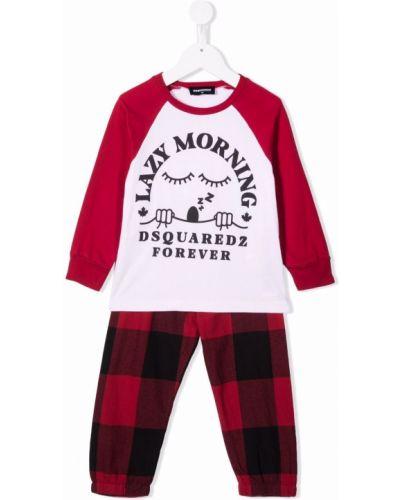 Piżama z długimi rękawami - biała Dsquared2 Kids