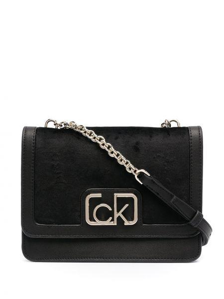 Czarny złoty łańcuszek Calvin Klein