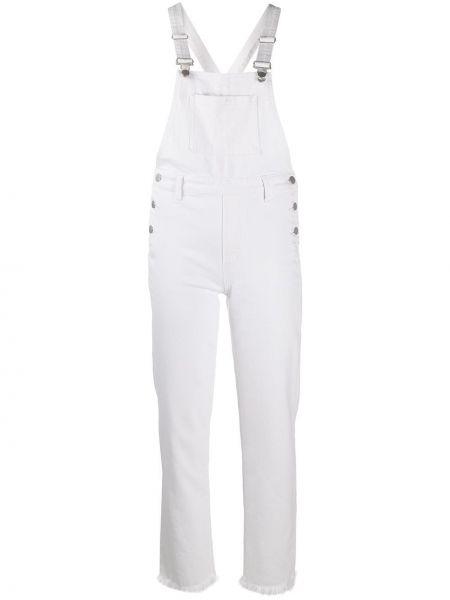 Белый комбинезон с карманами на бретелях J Brand