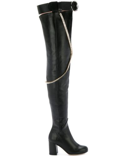Ботфорты кожаные черные Olgana