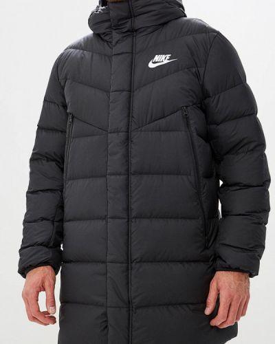 Зимняя куртка черная осенняя Nike