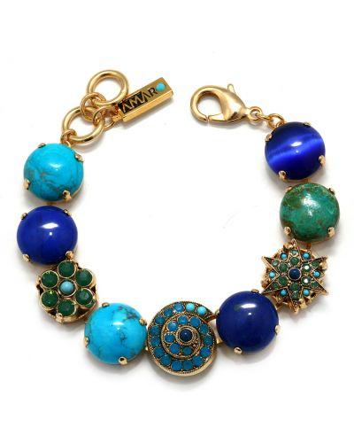 Синий браслет малахитовый Amaro