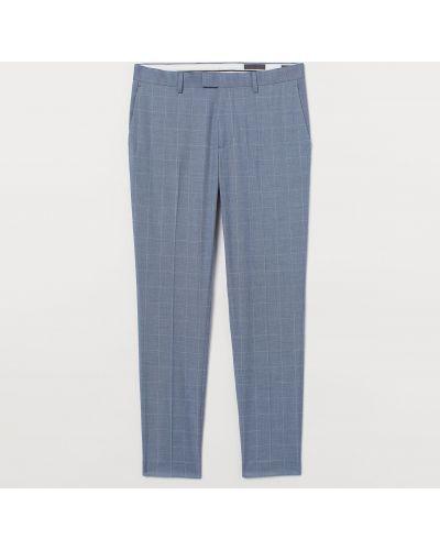 Зауженные укороченные брюки в клетку с карманами H&m