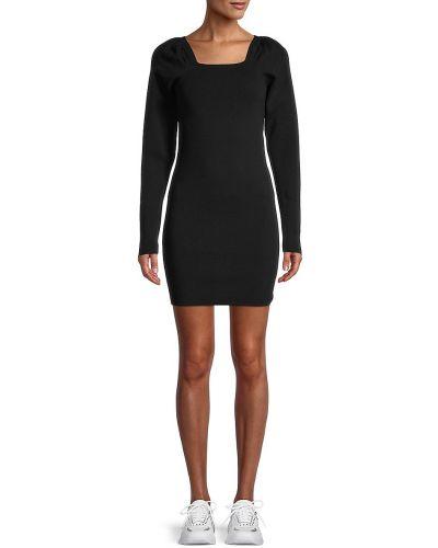 Черное платье мини из вискозы с американской проймой 525 America