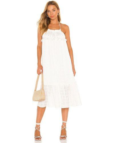 Biała sukienka midi elegancka Majorelle