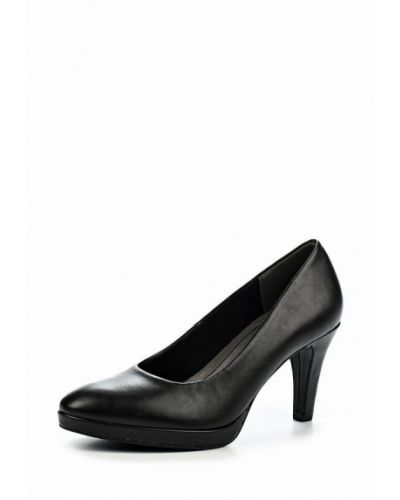 Кожаные туфли для офиса на каблуке Marco Tozzi